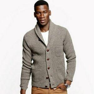 J. Crew lambswool three pocket cardigan sweater